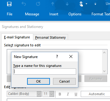 word image 26 - Creating signatures in Outlook