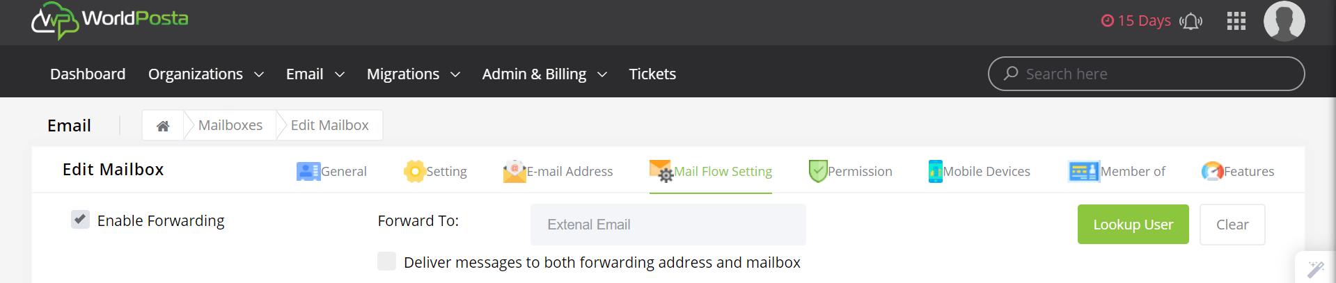 enable forwarding - Configuring Email Forwarding