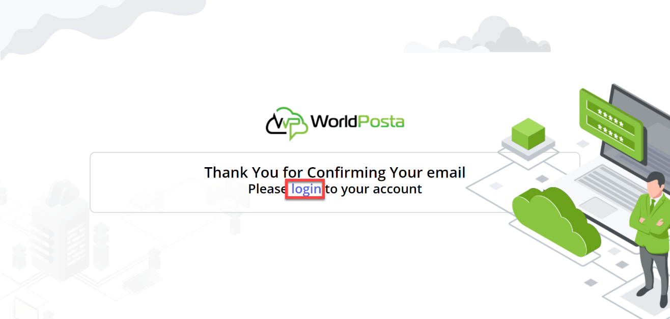 thank you login - Registration Process