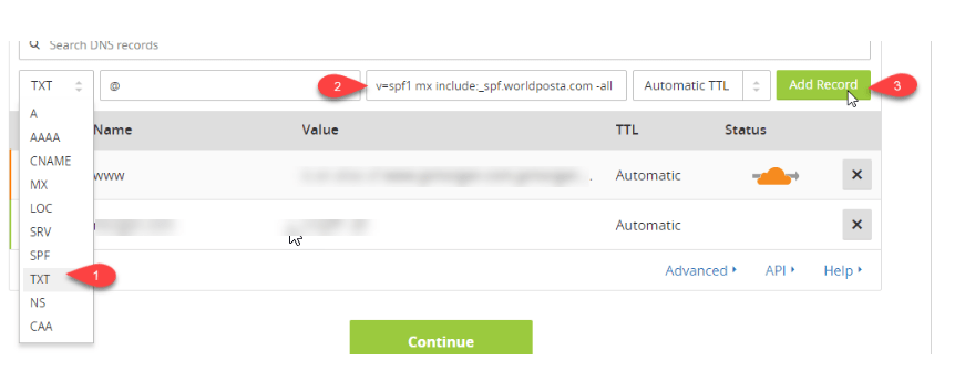 word image 10 domain verification - Registration: 2) Domain Verification
