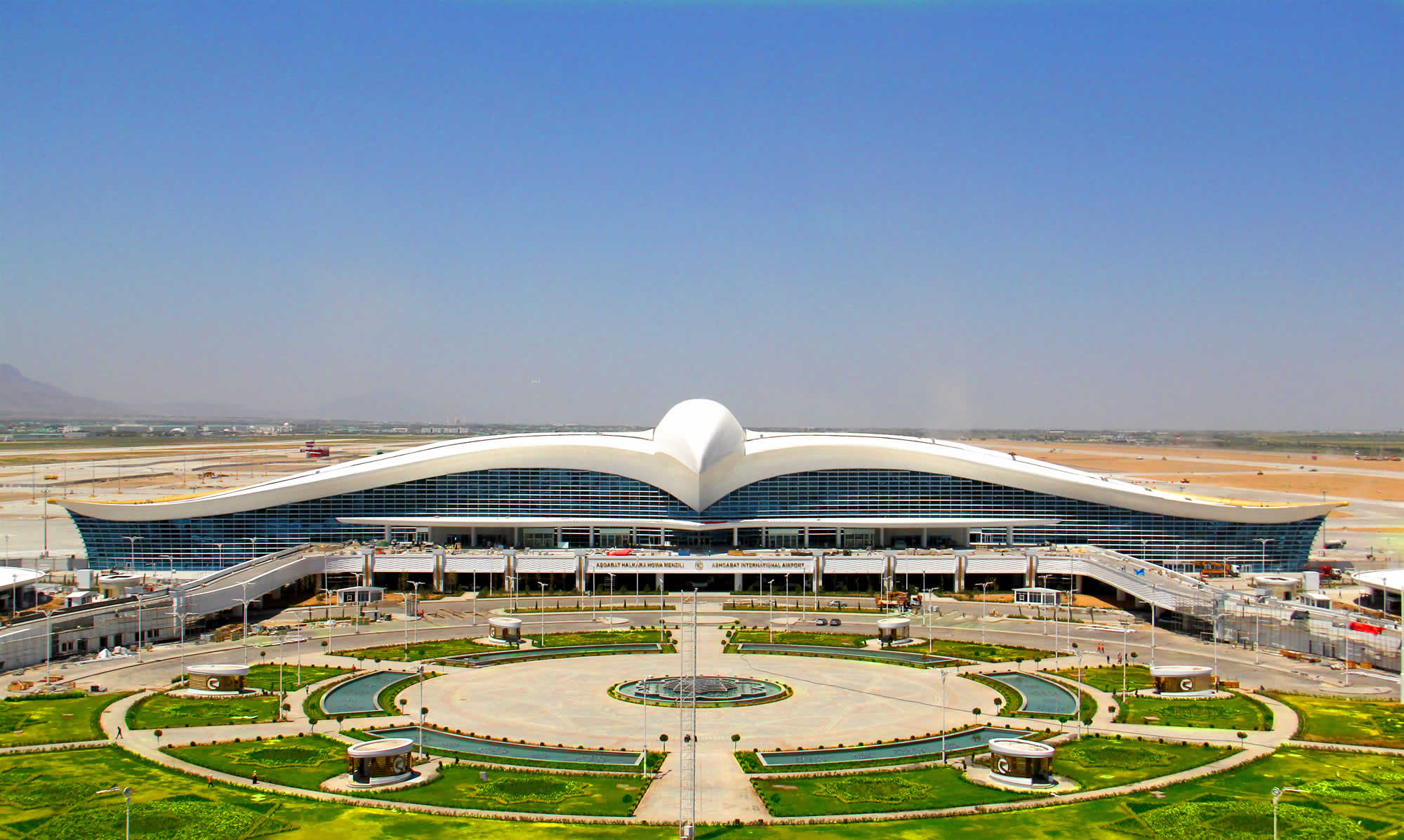 Image result for Bird-Shaped Ashgabat Airport