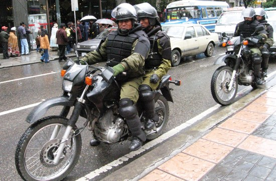 Bolivian Armored Bike Cops-1