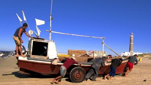 Jose Ignacio Pushing Boat
