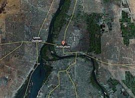Satellite Image of Sudan and Nile River, Red Sea etc.
