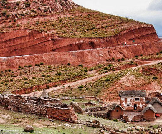 Potosi Route Adobe Town