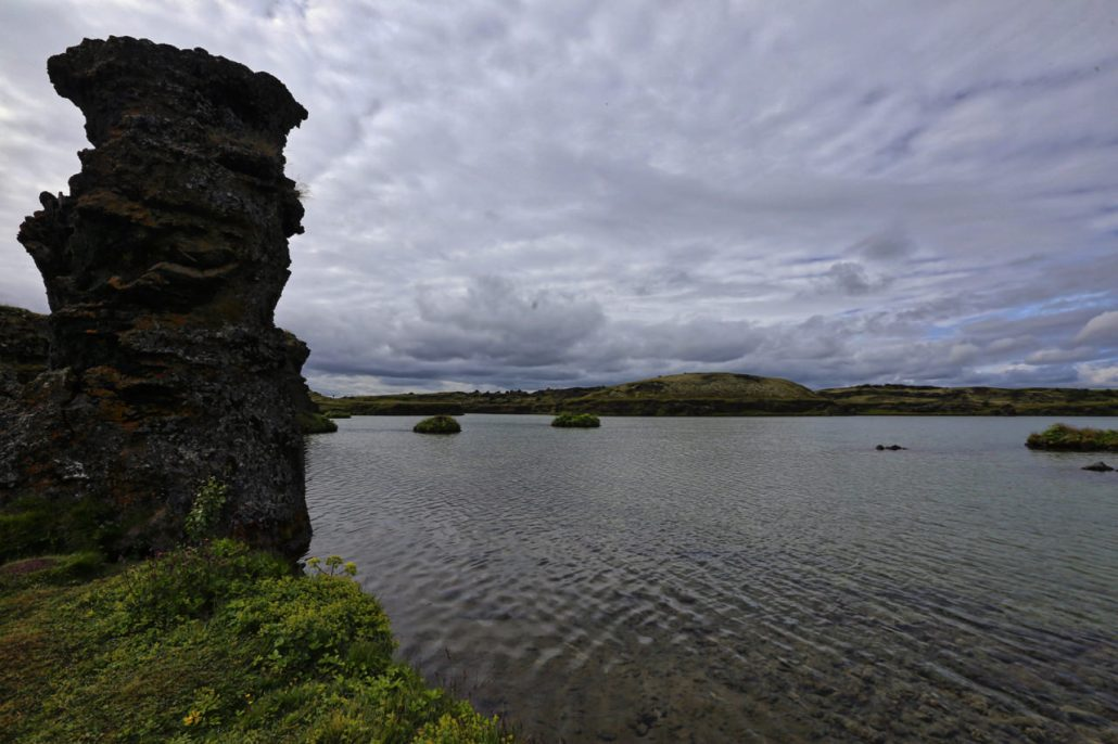 The shores of Myvatn dare tell a story of a rich and turbulent volcanic past.