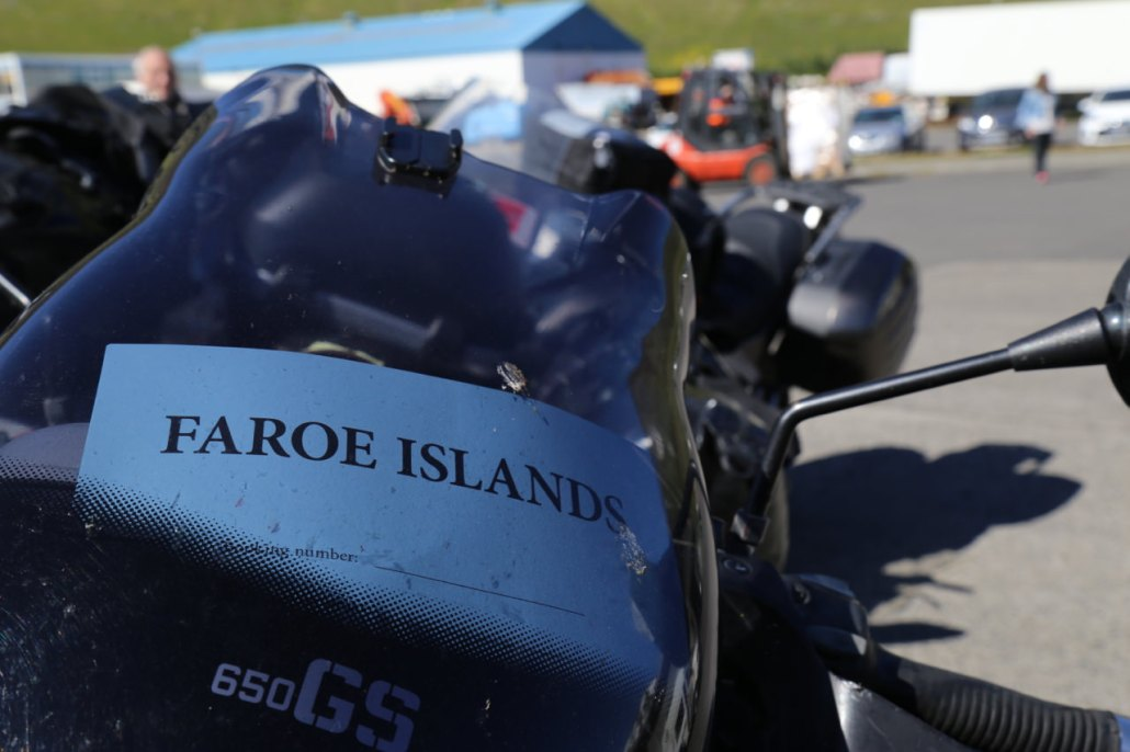 My bike is marked, I'm going to Denmark on Smyril, but first a stop in the tiny but legendary Faroe Islands.