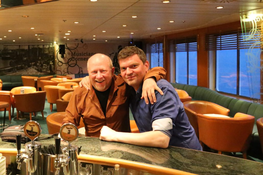 My new Faroese friend, Svein who manages the loading and unloading of the Nörrona in Iceland and on the Faroe Islands.