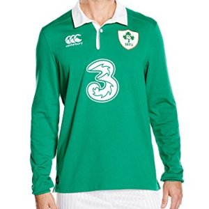 Canterbury Men's Ireland Home Classic Long Sleeve Rugby Jersey