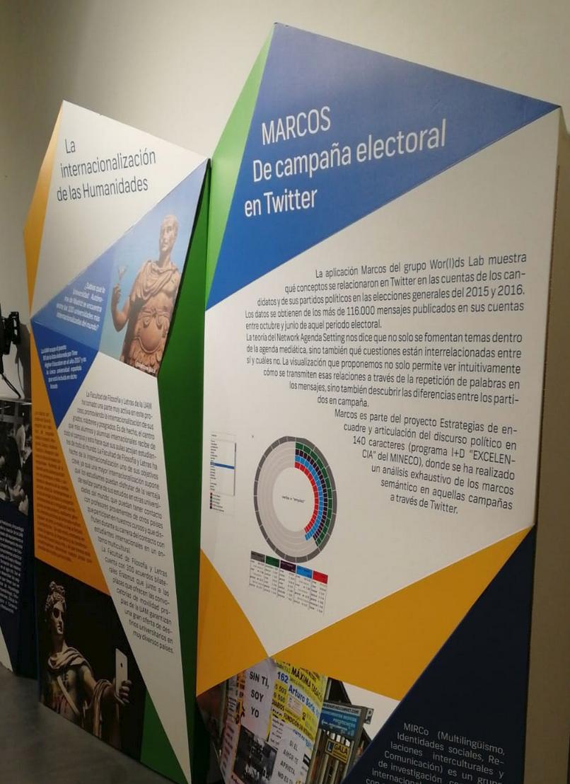 Wor(l)ds Lab at the UAM50 exhibition in Centro Centro (Madrid)