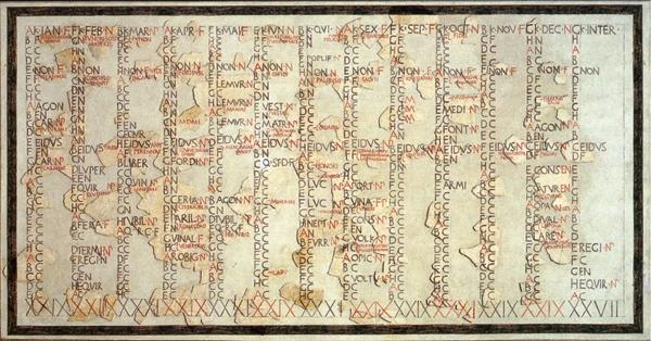 1st Century Julian Calendar with 8-day Week