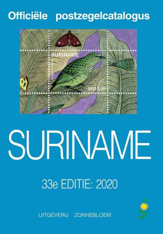 Zonnebloem Official Stamp Catalogue Suriname 2020