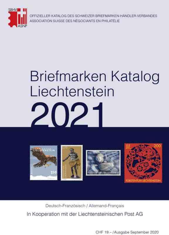 SBK – Stamp Catalogue Liechtenstein 2021