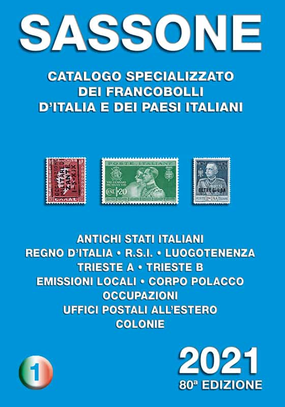 Sassone Special Stamp Catalogue 2021 – Volume 1