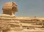 Egyptian sphinx tourist attraction