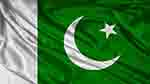 Pakistani flag on cloth