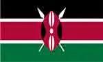 Kenya flag by FlagPictures.org