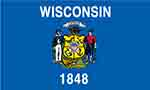 Wisconsin state flag courtesy of FlagPictures.org