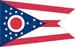 Ohio's state flag courtesy of FlagPictures.org