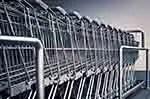 Steel shopping carts (courtesy of Pixabay.com)
