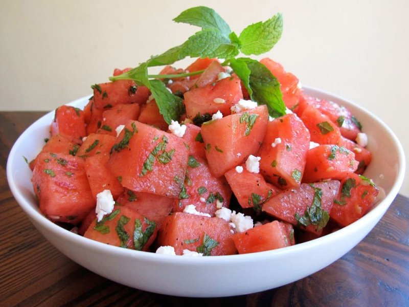 Minted Watermelon Salad - Summer health drinks with Watermelon