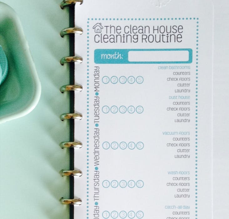 Home cleaning checklist for effective cleaning method