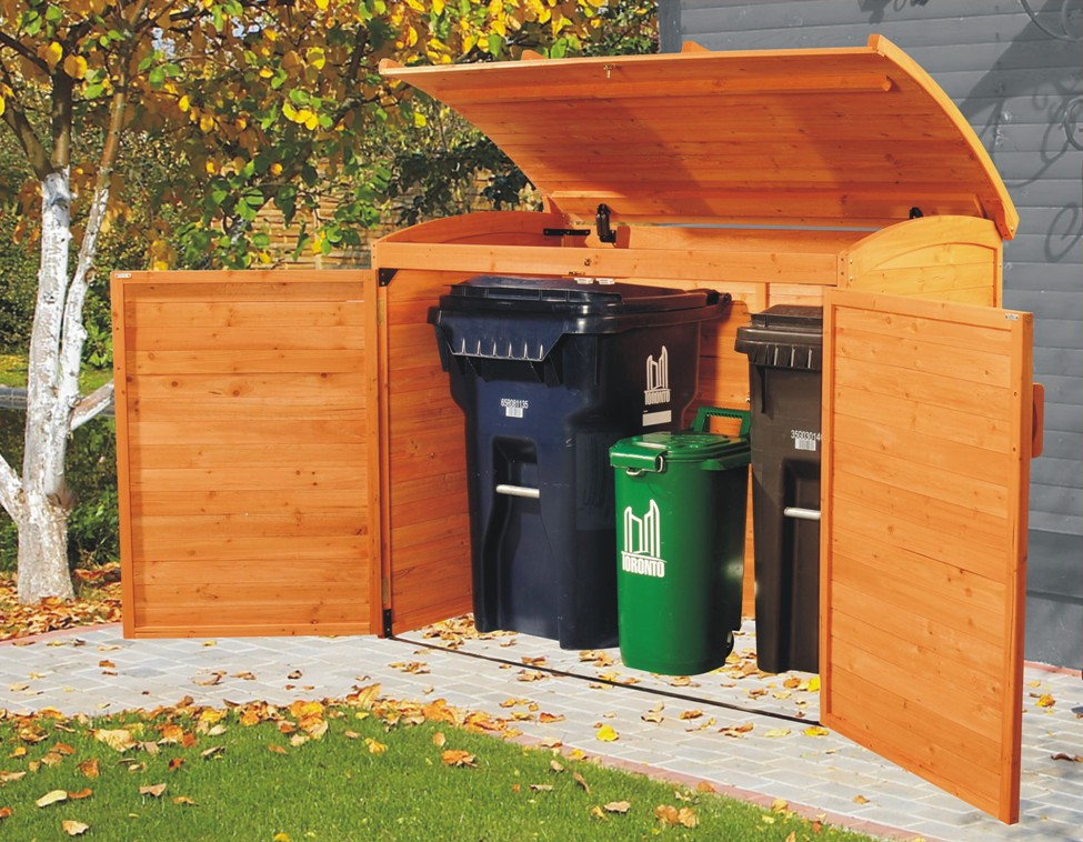 DIY backyard idea to making up space for a home recycling centre