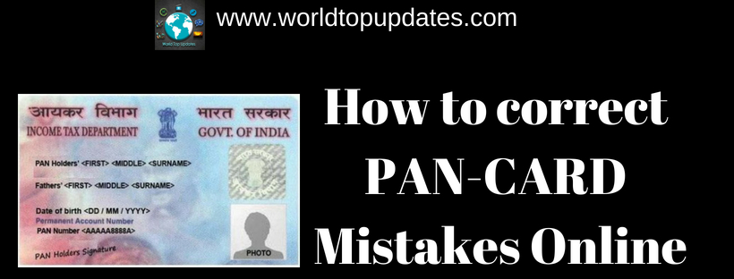 correct pan card mistakes online