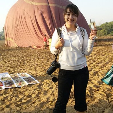 I can drink champagne anytime...especially on the fields of Bagan, Myanmar ...after a hot air balloon ride ;-)