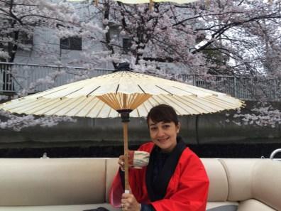 Japan+Sakura+Green tea=one happy girl