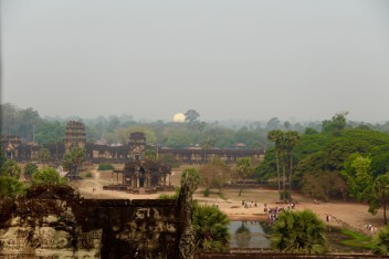 The view from the Angkor Temple