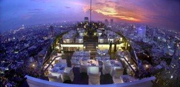 Moon Bar and Vertigo restaurant at Banyan Tree hotel Bangkok