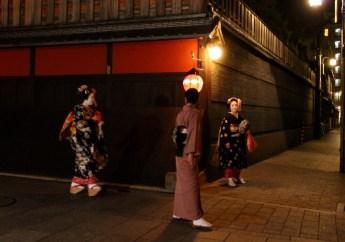 Geishas leaving Ichiriki Ochaya Kyoto
