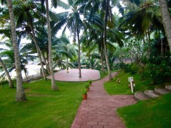 Manaltheeram outdoor yoga platform