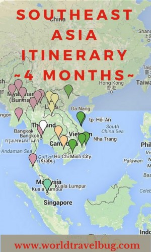 Southeast Asia Itinerary for 4 months. How much time to spend where and much more #southeastasia #itinerary #Asiatravel #4monthsitinerary