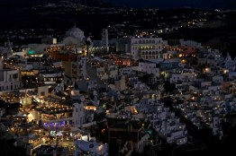 Fira by night, Santorini