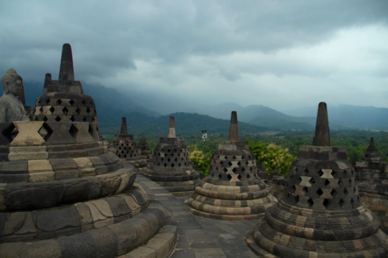 Stormy Sunset at Borobudur