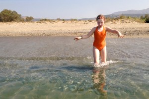 Rethymno, Misiria Beach - testing the waters - @World Travel Mama