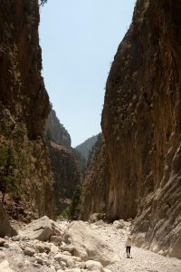 Samaria Gorge - massive vertical walls - @World Travel Mama