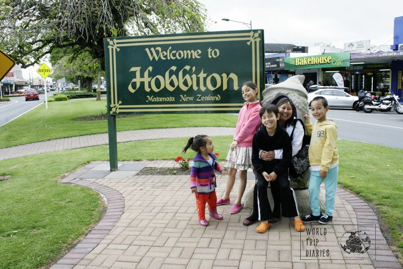 This is the entrance to Matamata, in NZ. It's where Hobbiton, the village where The Hobbit and The Lord of the Rings filmed the Shire scenes.