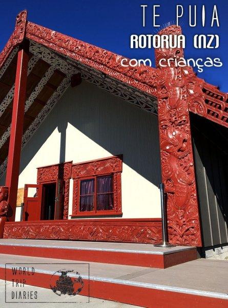 Te Puia, em Rotorua (NZ), é um lugar incrível para se conhecer a história Maori mais a fundo, além de entrar em contato com gêiseres enormes! Clique para ler mais