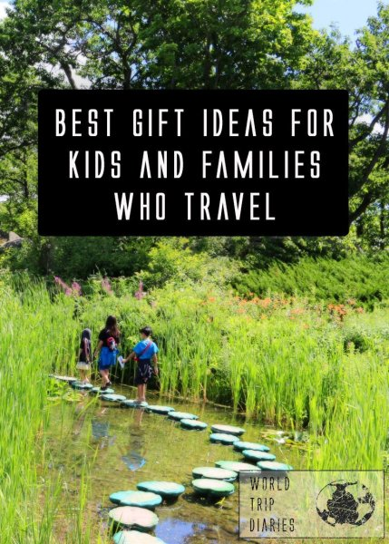 A list of the best gifts for kids and families who love to travel, or for those on a long vacation! Click to read!