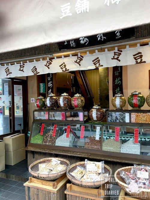 asakusa japan bean stall