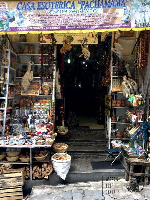 witch market la paz bolivia