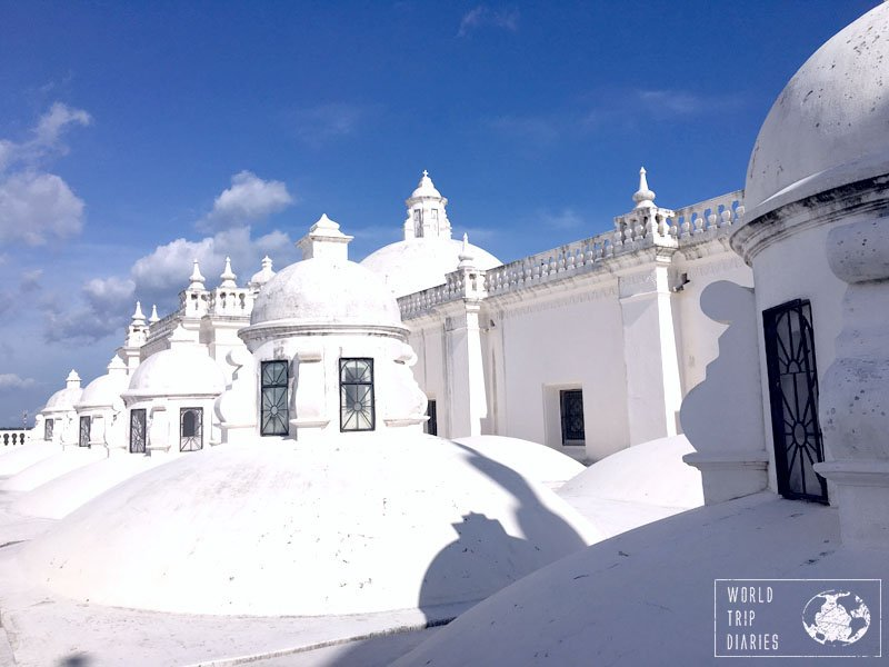 We visited the White Cathedral in Leon, Nicaragua, with the kids. It's fine for kids all ages, but you'll need to keep an eye on them since you're not supposed to climb on the domes.