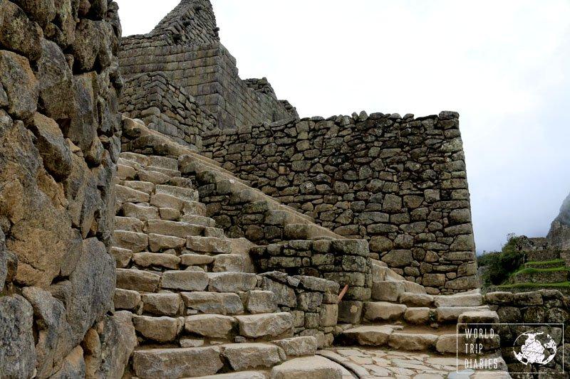 machu picchu walls peru