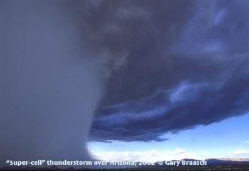Super célula em tempestade no Arizona, EUA