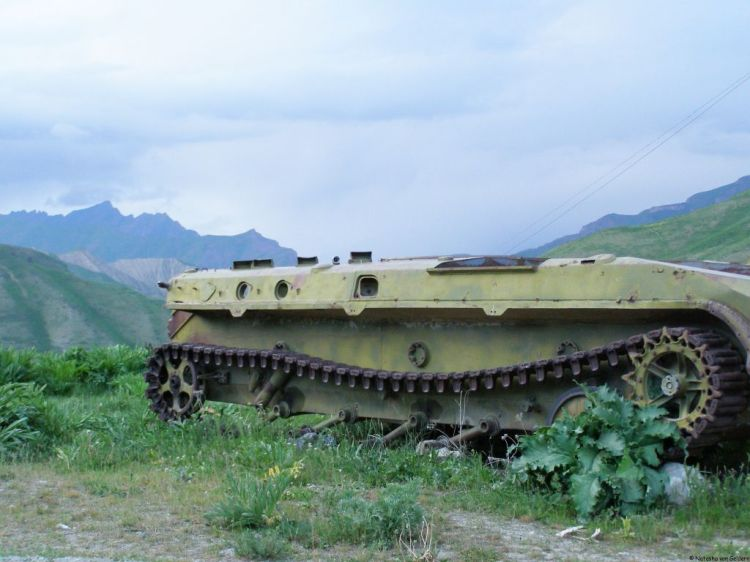 Tajikistan civil war remnants tank