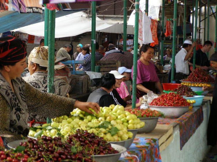 Osh Bazaar, Kyrgyzstan, Central Asia