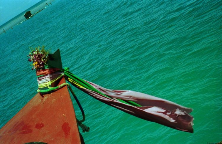 Thailand islands longtail boat